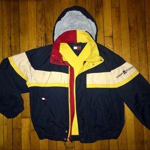 Rare 90s Vintage Tommy Hilfiger Colorblock Jacket